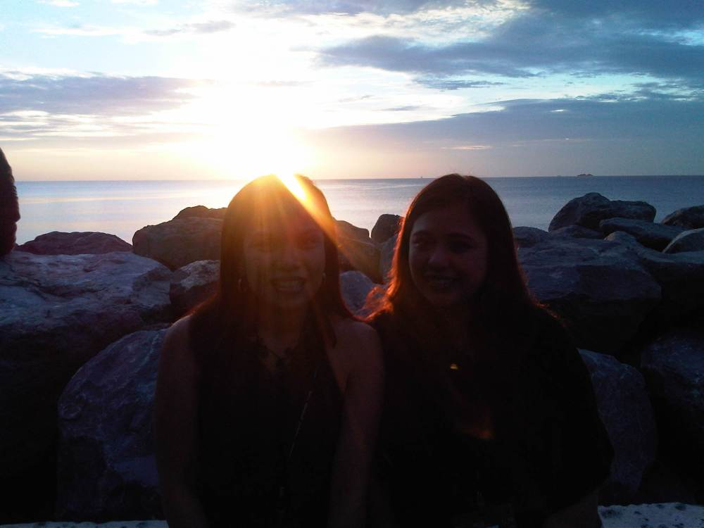 Ana and I (The sunset is the star in this shot)
