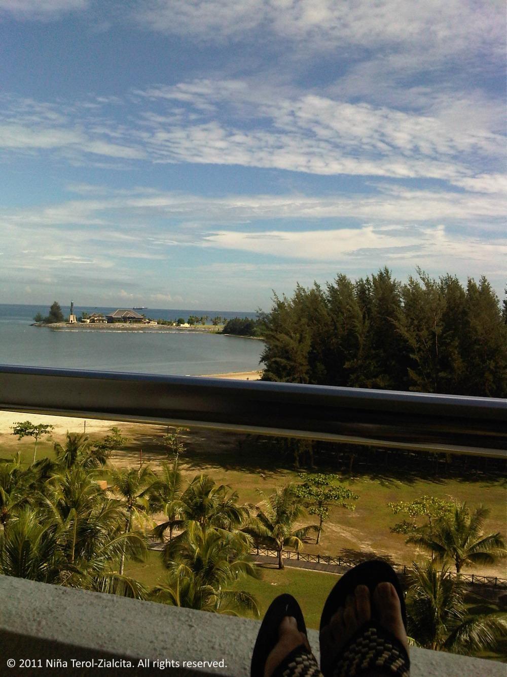 My veranda in Miri (Parkcity Everly Hotel, Miri, Sarawak, Malaysia)