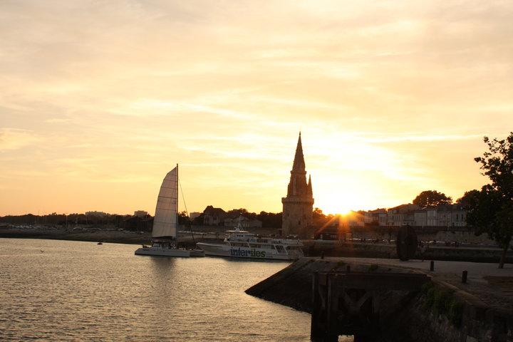 Sunset at Le Vieux Port, La Rochelle, France (2010) | Photo by NTZ