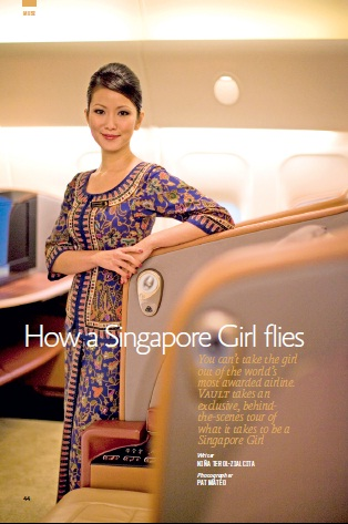 VAULT – How a Singapore Girl flies (June 2012) | Feature by Nina Terol-Zialcita * Photo by Pat Mateo