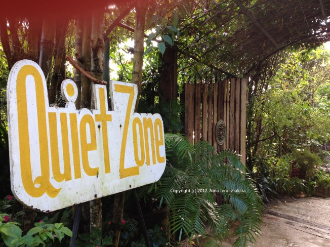 Quiet Zone at Sonya's Garden, Tagaytay City | Photo by Niña Terol-Zialcita