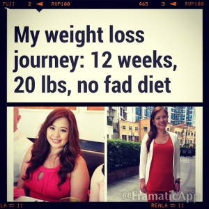 Sharing my weight-loss journey on Rappler.com | Click on the link to read the full article